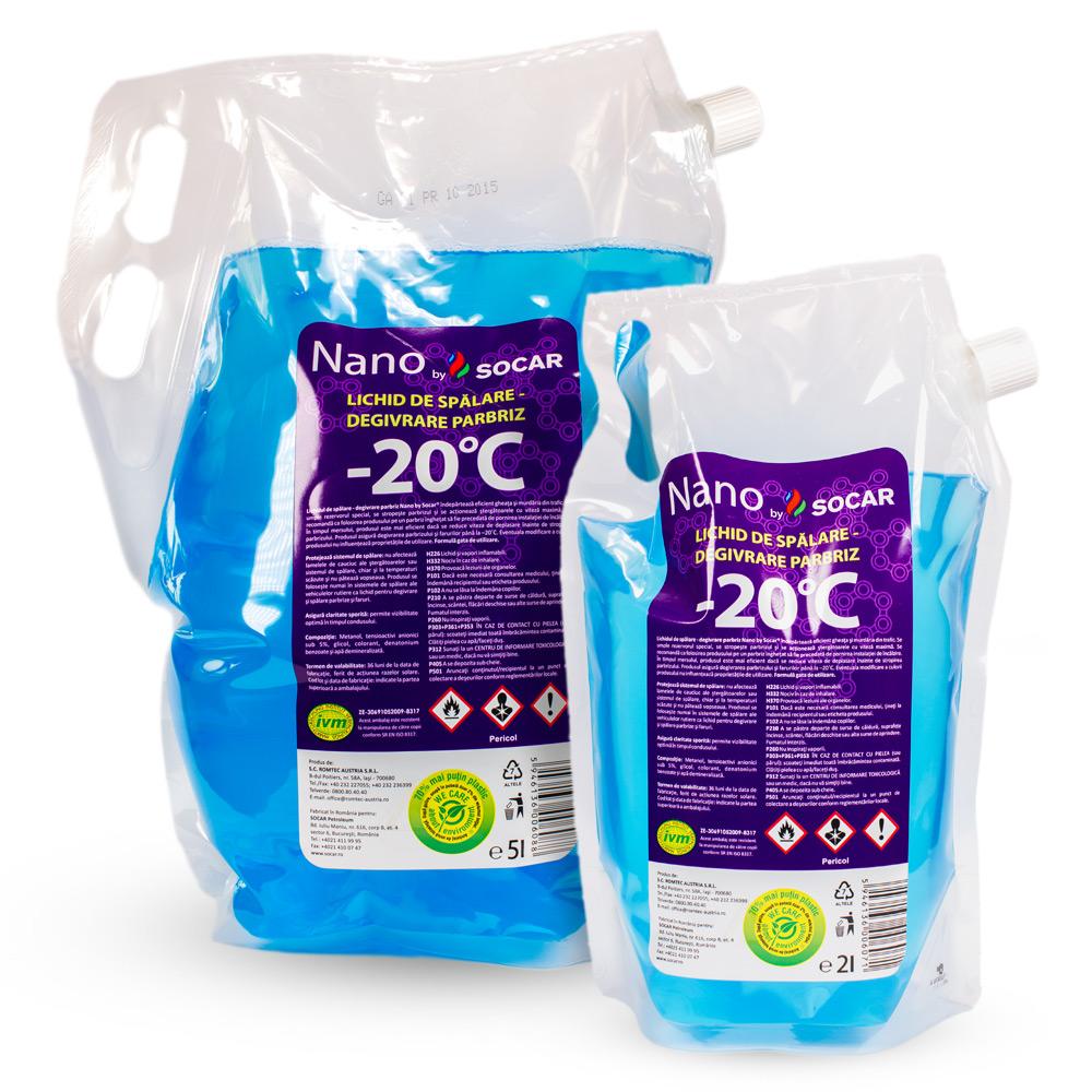 Nano by SOCAR– Lichid de Spălare-Degivrare Parbriz –20°C, 2L, 5L