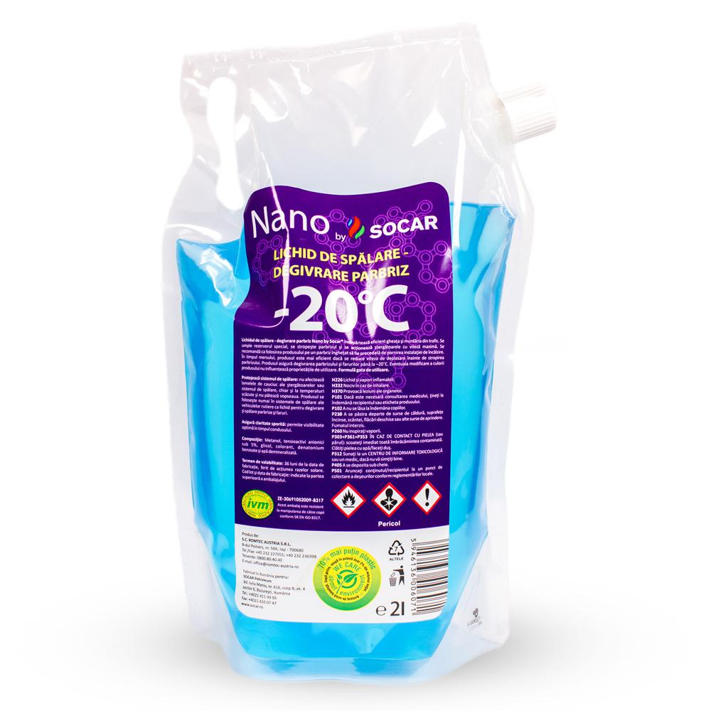 Nano by SOCAR– Lichid de Spălare-Degivrare Parbriz –20°C, 2L