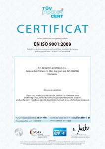 Calitate, ISO 9001:2008, TÜV Hessen
