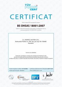 SMSSO, OHSAS 18001:2007, TÜV Hessen