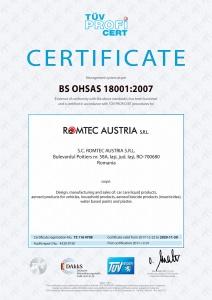 BS OHSAS Certificate, 18001:2007, TÜV Hessen
