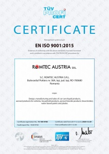 Quality Certificate, ISO 9001:2015, TÜV Hessen