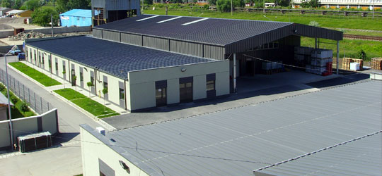 The new warehouses for manufacturing materials and final products.