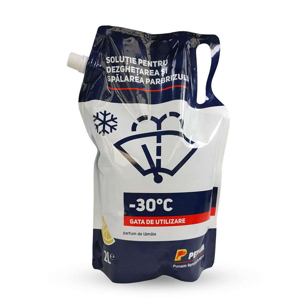 Petrom - Soluţie pentru dezghețarea și spălarea parbrizului –30°C, 2L