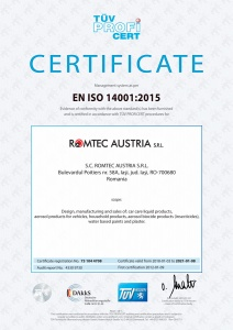 Environment Certificate, ISO 14001:2015, TÜV Hessen