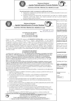 Romtec Austria SRL – Autorizatie de Mediu nr. 105/17.05.2013